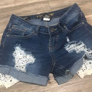 Some ripped jean shorts